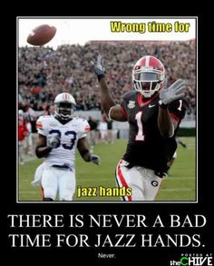 Dawgs do jazz hands. All the time.