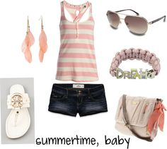 """""""summertime, baby"""" by ktlynn08 ❤ liked on Polyvore"""