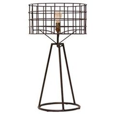 Sanctuary Industrial Loft Steel Table Lamp | Kathy Kuo Home