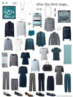 Can a Corporate Wardrobe have Personality? Start With Nature! An Ocean Photograph by LBToma - The Vivienne Files a work wardrobe in navy, grey and shades of green Capsule Wardrobe Mom, Capsule Outfits, Fashion Capsule, Work Wardrobe, Fall Outfits, Professional Wardrobe, Work Outfits, Wardrobe Basics, Minimalist Wardrobe