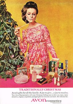 """Gift by Avon… A joy to select… A joy to give… A joy to receive!"" These Christmas adverts for Avon cosmetics date from Avon Vintage, Vintage Makeup Ads, Retro Makeup, Vintage Beauty, Retro Vintage, Vintage Soul, Retro Ads, Retro Advertising, Retro Christmas"