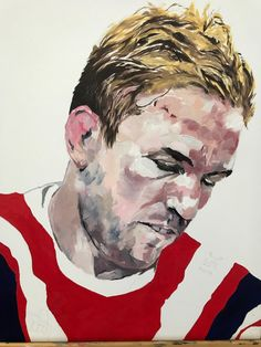 Roosters - Harley Oliver Roosters, Oil On Canvas, Sport, Portrait, Deporte, Painted Canvas, Excercise, Sports, Portrait Illustration