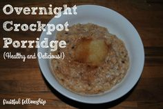 Gluten-free, dairy-free, refined sugar free and delicious overnight oatmeal!