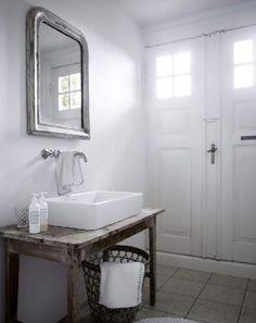 love the simplicity of this sink on an old table  desire to inspire - desiretoinspire.net - TineKjeldsen