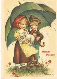 Risultati immagini per cartoline vecchie di buona pasqua