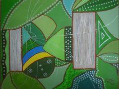RegenDruppels, acryl op doek, 40x50, 2011 (out)