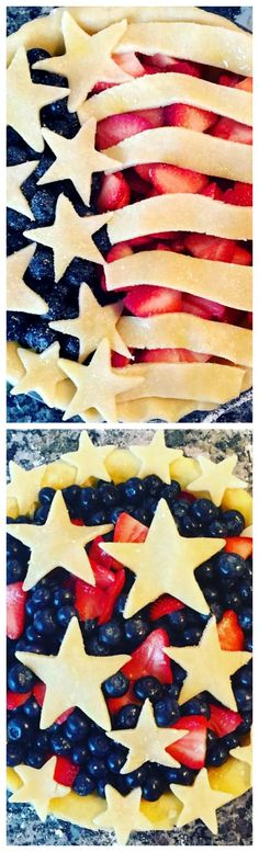 American Flag Pie & Star-Spangled Pies ~ Easy instructions to follow using very simple, basic ingredients