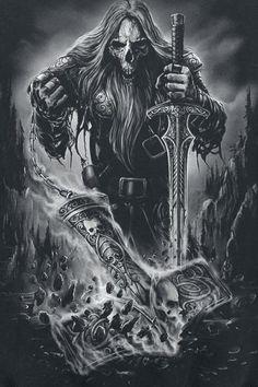 death art wolf artwork sea dead ship skeleton bones raven darkness ...