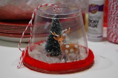 Clear Christmas Ornaments for Crafts | We made these fun ornaments in a couple of the kids holiday parties at ...