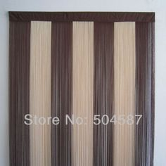 """Beige and Brown Multicolor String Curtains for backdrops and room divider 36""""x78"""" (90x200cm)  6 pieces/lot $77.94"""