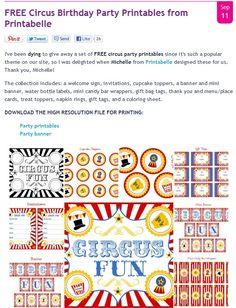 Circus Printables