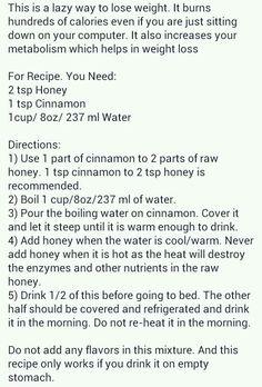 Cinnamon honey drink