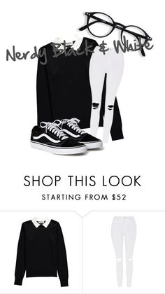"""""""Nerdy Black & White"""" by avalienho on Polyvore featuring Essentiel and Topshop"""