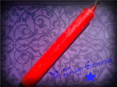 "Red Altar Candle 6"" $2.75 at The Indigo Gathering"
