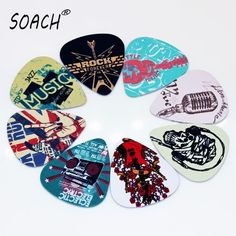 SOACH 10pcs Newest  Music element Guitar Picks Thickness 1.0mm  Guitar Accessories Musical Instruments