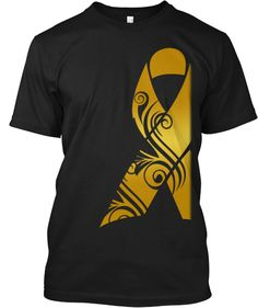 This Gold Ribbon represents Childhood Cancer awareness. To Order: http://www.teespring.com/CA-CCa