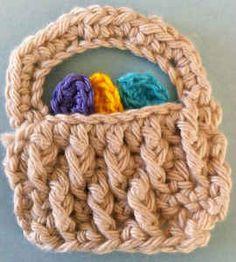 Maggie's Crochet · Easter Basket Appliqué - Free Pattern