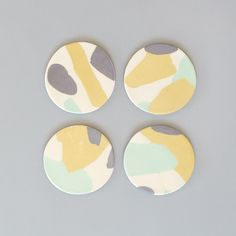 Pigeon Toe Ceramics Abstract Coasters Set - minimalist, minimal design, natural material, modern design