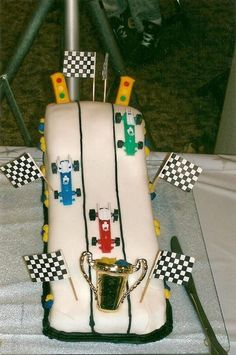 This was the first cake I ever made for Boy Scouts Pinewood Derby.