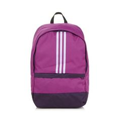 ff6536ad46f7 adidas Purple canvas logo backpack- at Debenhams.com 15P Purple Canvas