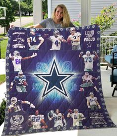 Dallas Cowboys Outfits, Dallas Cowboys Decor, Dallas Cowboys Women, Dallas Cowboys Football, Football Team, Nfl Dallas, Cowboy Quilt, National Football League, Fan Gear