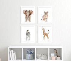 Baby Animal Print Set  Safari Nursery Prints  от TinyToesDesign
