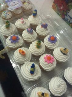 Roller skate cupcakes by Jaxi
