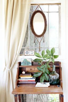 Instead of flower crowns and daisy chains, try pretty branches to make a tree house feel (even more) one with nature. Then, create a separate station in the office entirely for writing.