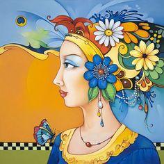 Oreste Bouzon. Peintures à l'huile, à l'instar de batik. Scène VI