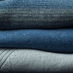 Cashmere in faded blues and kickback cool graphite greys - Relaxed Regatta