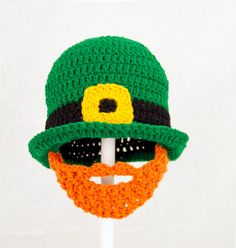 St Patricks Day Irish Derby Green Crochet Hat with by GeekinOut, $40.00