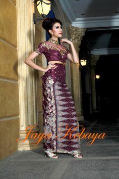 elegant  kebaya modern dress 2016 - silver