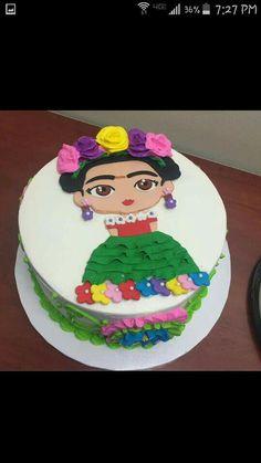 Frida Kahlo birthday cake