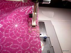 DIY Flannel Recieving Blanket.