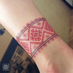 Our Website is the greatest collection of tattoos designs, tattoo shops and artists. Find Inspirations for your next Embroidery Tattoo. Armband Tattoo, Wrist Band Tattoo, Hmong Tattoo, Slavic Tattoo, Cute Tattoos, New Tattoos, Body Art Tattoos, Tribal Tattoos, Tattoo Ideas