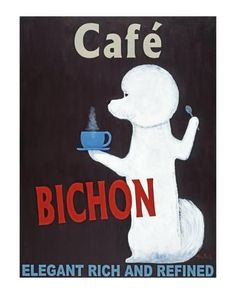 Collectable Print: Bichon Cafe by Ken Bailey : 19x13in
