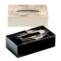 Arca Horn & lacquer tissue box covers