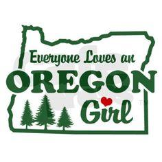Everyone Loves an Oregon Girl Sticker (Rectangular on CafePress.com