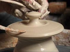 A Masterful demo of throwing lids off the hump!  #ceramics #pottery