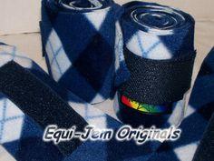 Navy/Baby Blue Argyle Polo Wraps