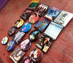 20 Vintage ROCK & ROLL Motley Crue, Run DMC, Gang of Four, Iron Maiden, More $3.99