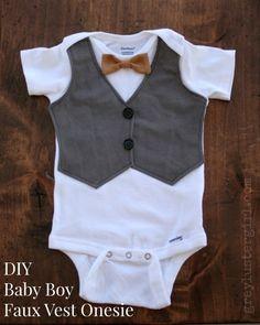 DIY Baby Boy Faux Vest Onesie