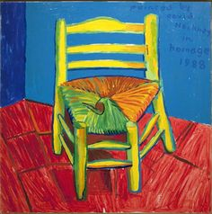 David Hockney, Vincent's Chair and Pipre by David Hockney