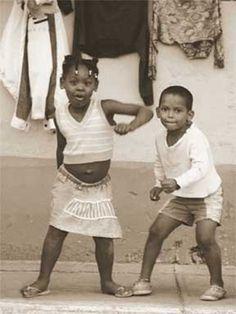 Girl Boy Dancing Art Print by Nelson Fegueredo