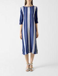 Ace & Jig Eden rumpled cotton long dress at Bird : ShopBird.com