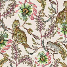 Image result for new ardmore monkey and leopard fabric