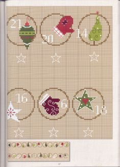 "Photo from album ""Christiane Dahlbeck Kreuztichmotive"" on Yandex. Cross Stitch Needles, Cross Stitch Samplers, Cross Stitch Charts, Cross Stitch Designs, Cross Stitching, Cross Stitch Patterns, Felt Embroidery, Christmas Embroidery, Cross Stitch Embroidery"