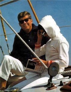 jeannepompadour:  Jack and Jackie Kennedy,1960s