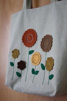 Crochet flores lino bolso Tote | Etsy Crochet Stitches Free, Crochet Motif Patterns, Crochet Quilt, Crochet Tote, Bag Patterns To Sew, Crochet Handbags, Crochet Purses, Knit Or Crochet, Hello Kitty Crochet