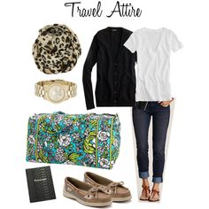 Spring Break Flight Outfit, created by leopard-spot on Polyvore